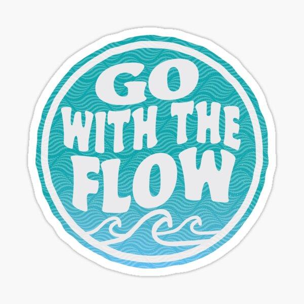 Go With the Flow - Surf Wave Sticker Sticker