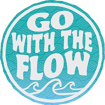 Go With the Flow - Surf Wave Sticker by ericbracewell