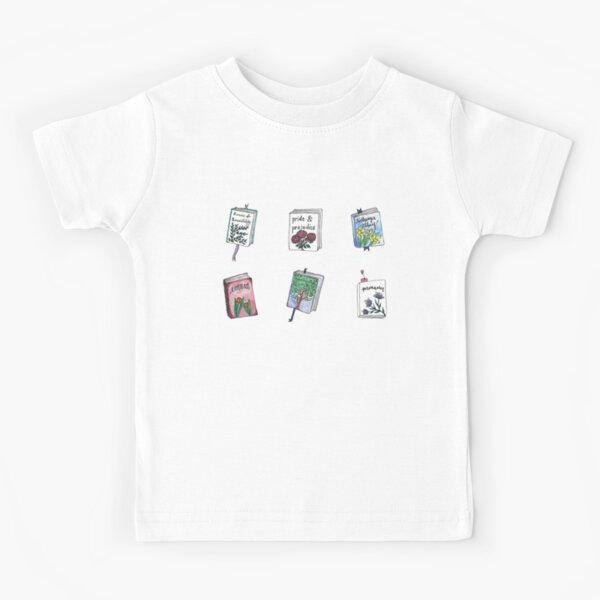 Jane Austen Books with Flowers! Kids T-Shirt