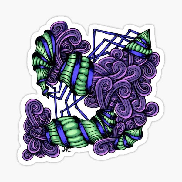 Zentangle Squishy Spirals Sticker