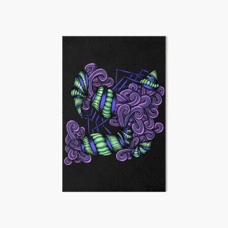 Zentangle Squishy Spirals Art Board Print