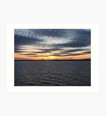 Sunset Over Lake - Orman Dam Art Print