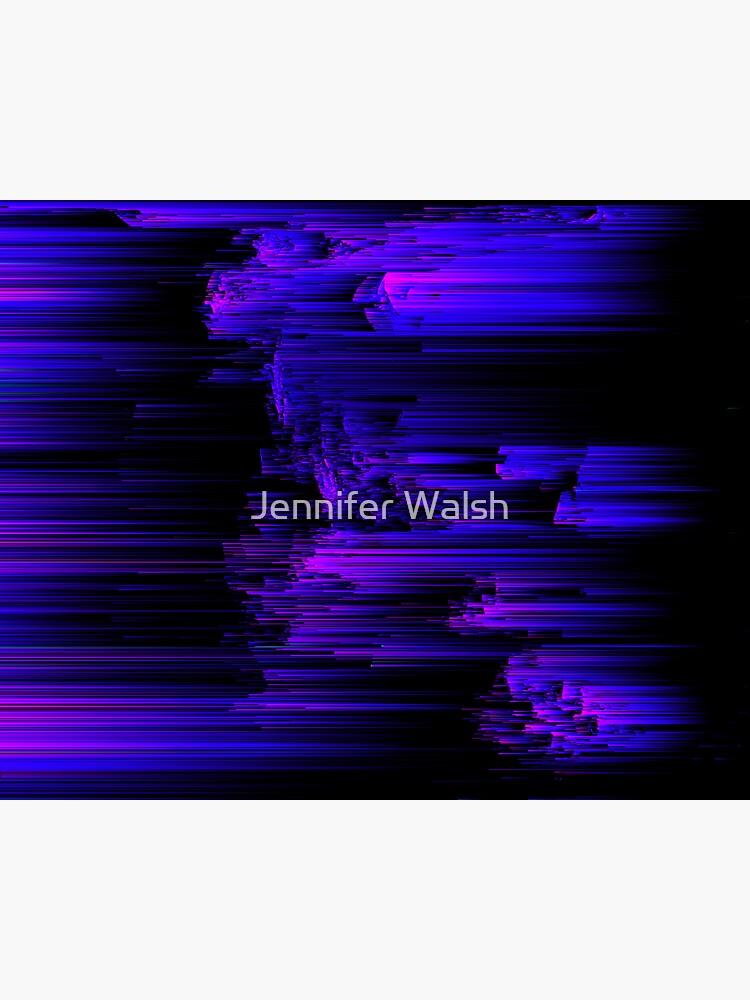Ultraviolet Light Speed - Abstract Glitch Pixel Art by InsertTitleHere