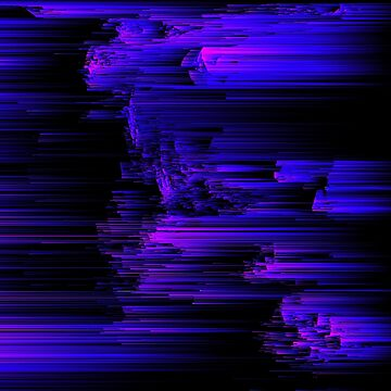Ultraviolet Light Speed - Abstract Glitch Pixel Art by InsertTitleHere