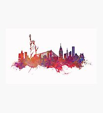 New York city Skyline red Photographic Print