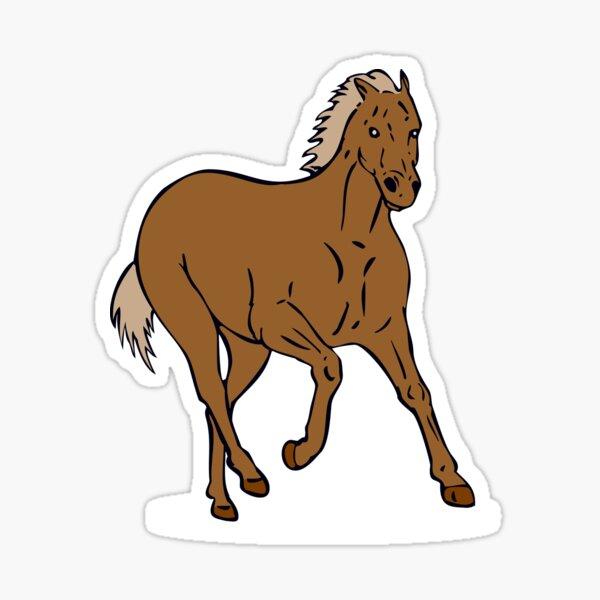 Mustang Galloping Retro Sticker