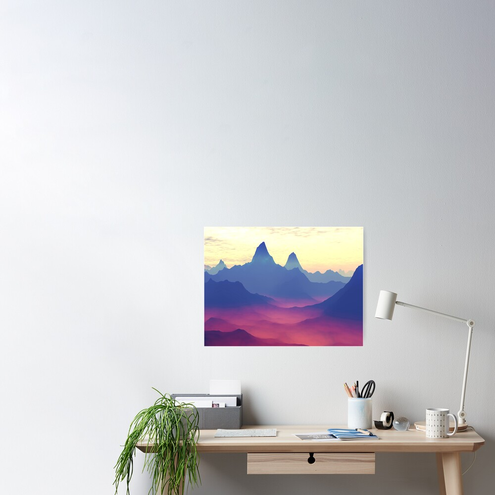 Mountains of Another World Poster
