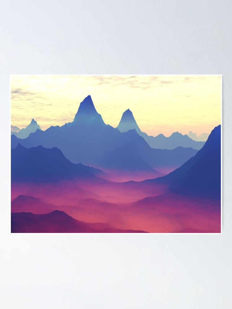 Alternate view of Mountains of Another World Poster