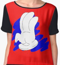 Cartoon hand on blue scrabble - Vector Chiffon Top