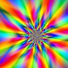 Sharp rainbow art by Joan Marie Flaherty
