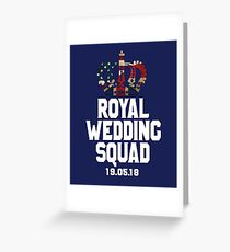 Royal Wedding Squad 2018 Prince Harry and Meghan Markle T-Shirt & Souvenirs  Greeting Card
