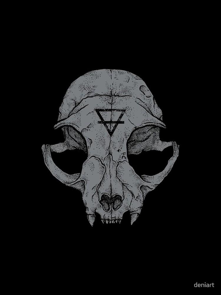 Cat Skull by deniart