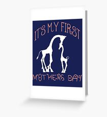 First Mother's Day Gift T-Shirt & Souvenirs  Greeting Card