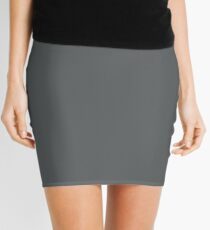 Philadelphia Football Team Charcoal Gray Solid Mix and Match Colors Mini Skirt