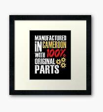 Manufactured In Cameroon With 100% Original Parts Framed Print