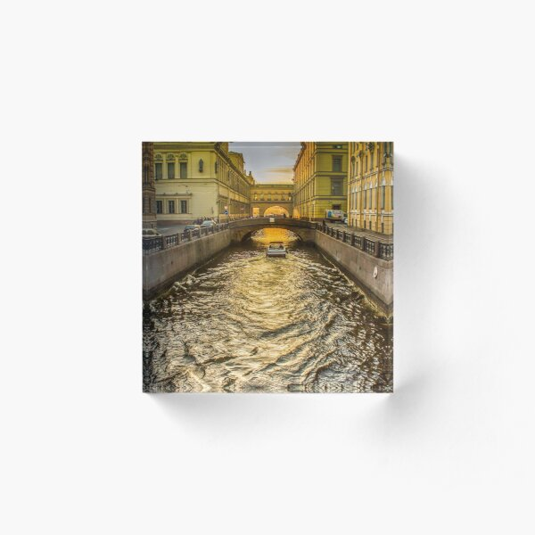 Swan Canal in St. Petersburg Acrylic Block