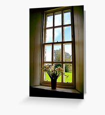Flowers in a Window Greeting Card
