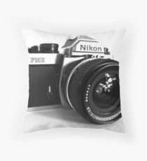 Nikon FM2 Nikkor 24mm f2.8 Throw Pillow