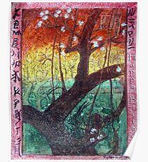 """Van Gogh's Copie """"Japonaiserie: Trees in Bloom"""" par Moi Poster"""
