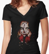 Freaky Chick Women's Fitted V-Neck T-Shirt