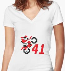 tc41eb Women's Fitted V-Neck T-Shirt