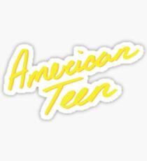 American teen yellow Sticker