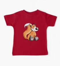 Red Fox - Woodland - Comic - Fun - Animal - Animals Baby Tee