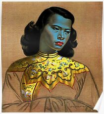 Vladimir Tretchikoff - The Chinese Girl - The Green Lady  Poster