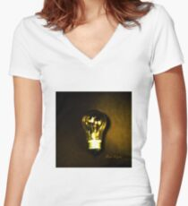 The Brightest Bulb in the Box Fitted V-Neck T-Shirt