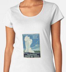 Vintage Yellowstone Travel Poster Women's Premium T-Shirt
