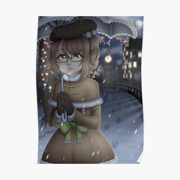 KiwisCorner Mascot - Christmas Illustration 2017 Poster