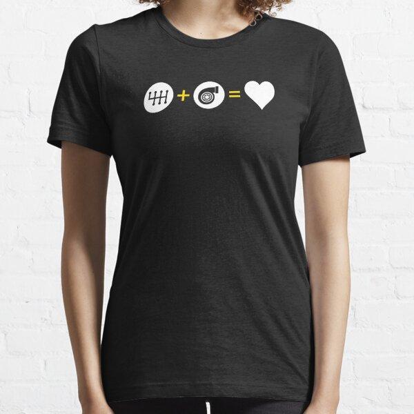 Manual Transmission Plus Turbo Equals Love Essential T-Shirt