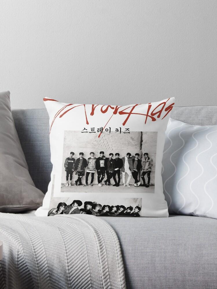 'STRAY KIDS - MIXTAPE ALBUM' Throw Pillow by lojakshop