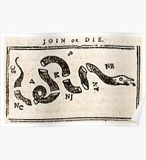 1765 Join or Die  Poster