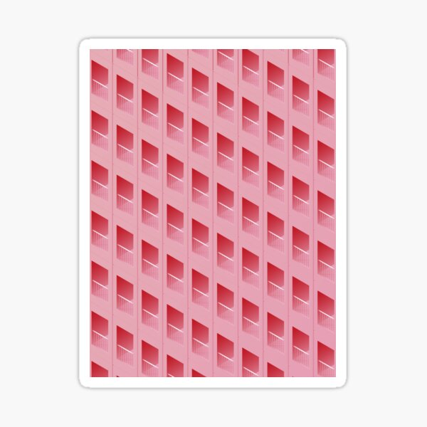 Pink Wafer Building Sticker