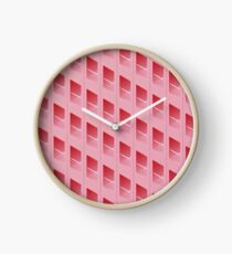 Pink Wafer Building Clock