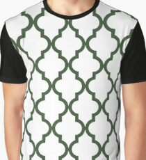 Moroccan Quatrefoil Pattern: Pine Green Graphic T-Shirt