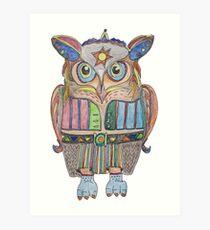 Cool Owl Art Print