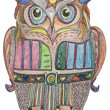 Cool Owl by GalleryGiselle