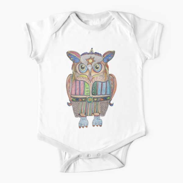 Cool Owl Short Sleeve Baby One-Piece