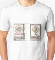 Antique Map - A Circle of Winds, or the Mariners' Compass (Bowen, 1747) Unisex T-Shirt