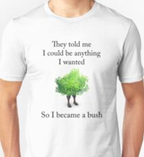 Fortnite - Become a Bush (Black) Unisex T-Shirt