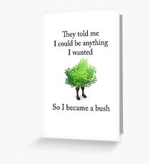 Fortnite - Become a Bush (Black) Greeting Card