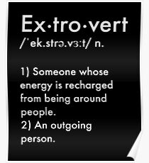 Extrovert Definition Poster