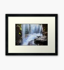 Behind the Falls Framed Print