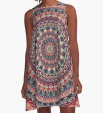 Mandala 126 A-Linien Kleid