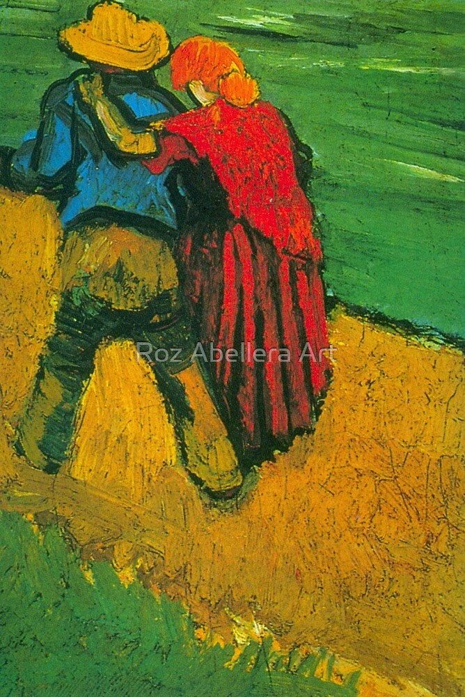'Two Lovers' by Vincent Van Gogh (Reproduction) by Roz Abellera