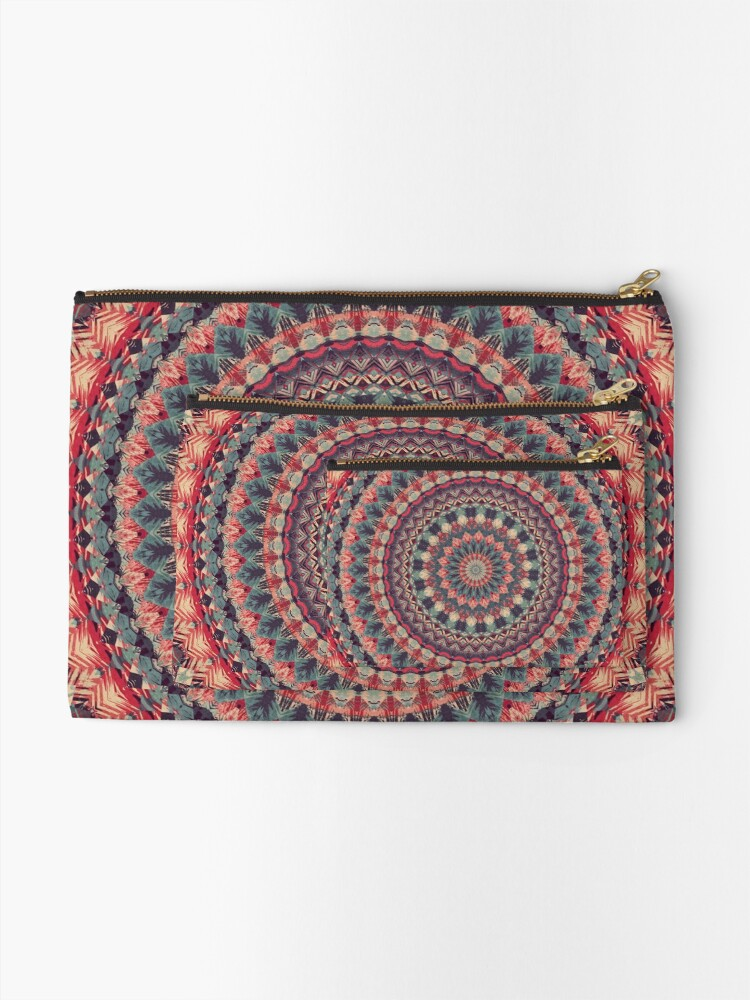 Alternate view of Mandala 126 Zipper Pouch