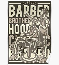 CLASSIC BARBER BROTHER HOOD Poster