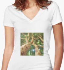 Vision of a Jabuticabeira Women's Fitted V-Neck T-Shirt